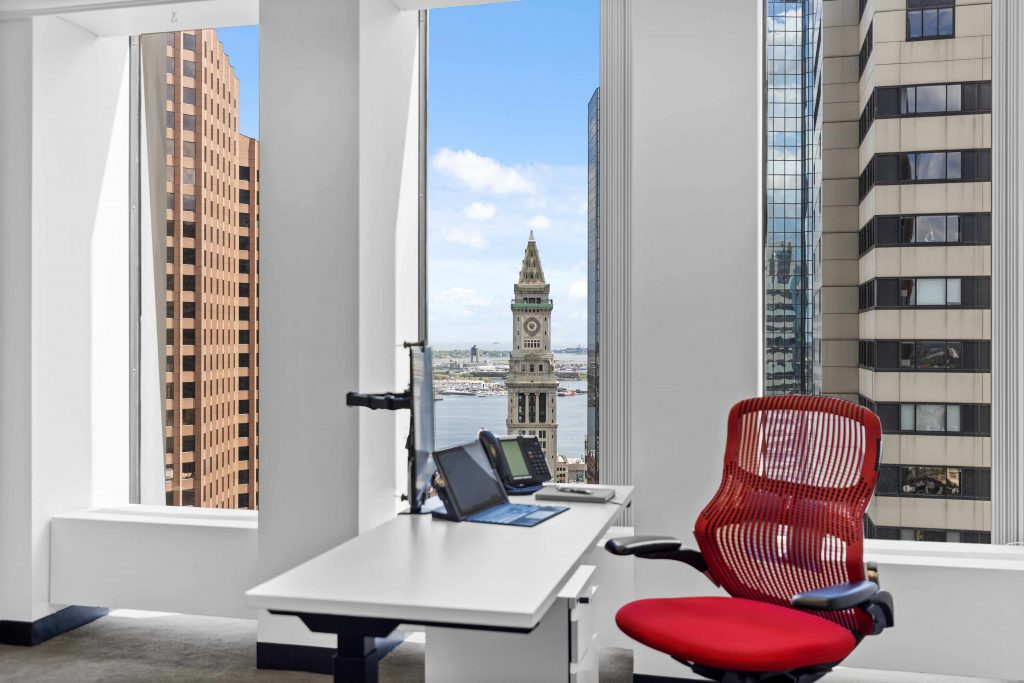 Private Window Suite at Boston Offices overlooking Custom House Tower